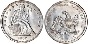 Seated Liberty One Dollar Coin